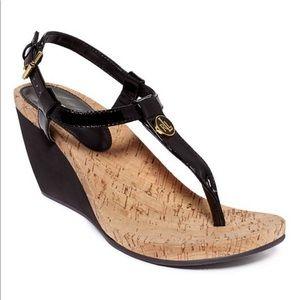 Ralph Lauren Reeta Thong Wedge Sandals Size